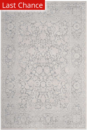 Rugstudio Sample Sale 182538R Light Grey - Cream Area Rug