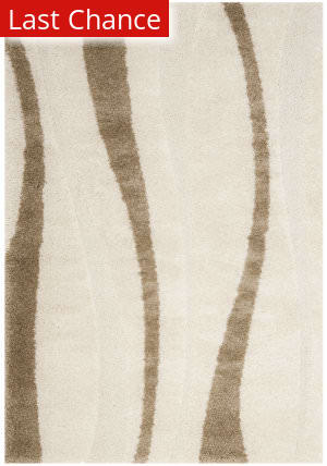 Rugstudio Sample Sale 101552R Cream / Dark Brown Area Rug