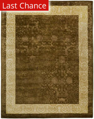Rugstudio Sample Sale 61151R Chocolate / Light Gold Area Rug