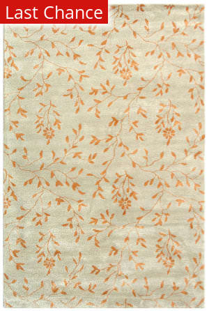 Rugstudio Sample Sale 47140R Light Green / Rust Area Rug