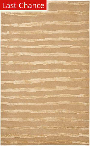 Rugstudio Sample Sale 47185R Beige / Gold Area Rug