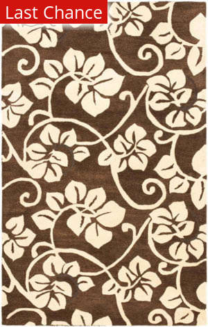 Rugstudio Sample Sale 47285R Brown / Ivory Area Rug