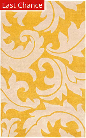Rugstudio Sample Sale 47298R Gold / Ivory Area Rug