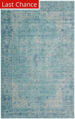 Rugstudio Sample Sale 155820R Teal - Multi Area Rug