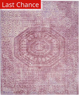 Rugstudio Sample Sale 143660R Mauve - Cream Area Rug