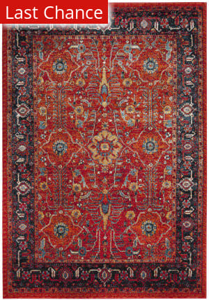 Rugstudio Sample Sale 166796R Orange - Navy Area Rug