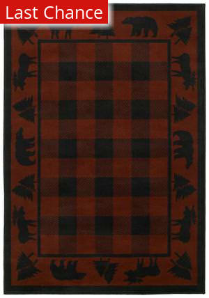 Shaw Phillip Crowe Timber Creek Woodlands Scarlet-15800 Area Rug