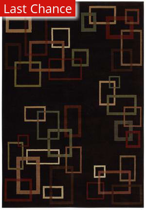 Shaw Inspired Design Cubist Black 17500 Area Rug