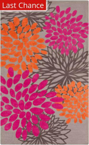 Rugstudio Sample Sale 105943R Gray / Hot Pink Area Rug