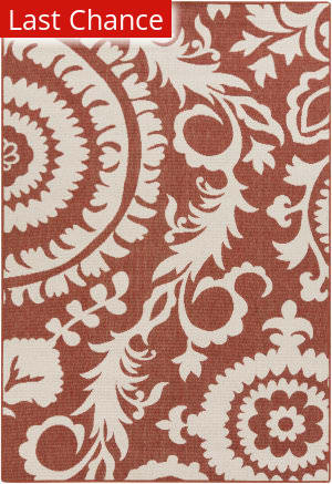 Rugstudio Sample Sale 106012R Beige / Red Area Rug