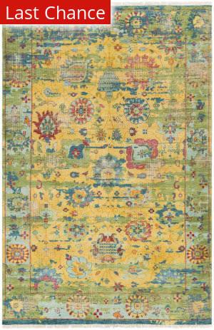 Rugstudio Sample Sale 159855R Yellow Area Rug