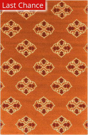 Rugstudio Sample Sale 74292R Rust Red Area Rug