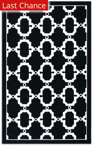 Rugstudio Sample Sale 53195R Black/white Area Rug