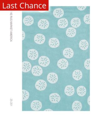 Rugstudio Sample Sale 53104R Aqua/white Area Rug
