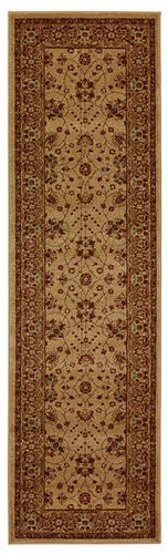 828 Crown Point CP03 Beige with Tan Border Area Rug