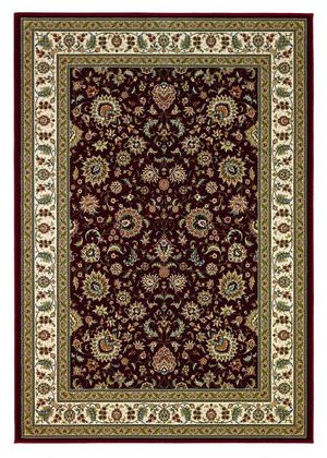 828 Greenville Collection 1-1004-01 Red with Ivory Border Area Rug