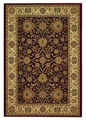 828 Greenville Collection 1-1005-05 Burgandy Area Rug