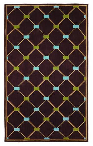 828 Mirage Collection 3-0544-80 Brown/Blue/Green Area Rug