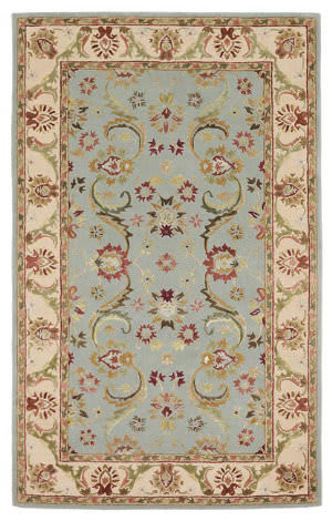 828 Ellington Collection EL02 Blue with Ivory Border Area Rug
