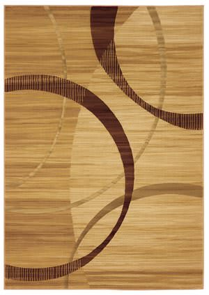 828 Laguna Collection LG24 Cream/Brown Area Rug