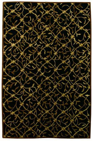 828 Tibetan Collection TIB72 Black/Gold Area Rug