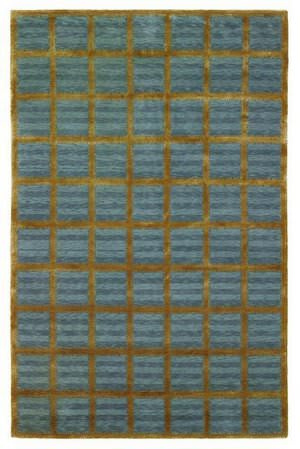 828 Tibetan Collection TIB79 Blue/Gold Area Rug