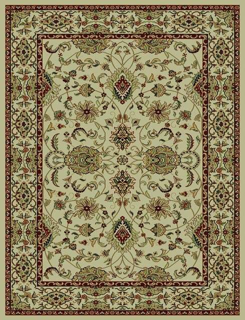 828 Rhine Collection Rh01 Iv Ivory With Ivory Border Area