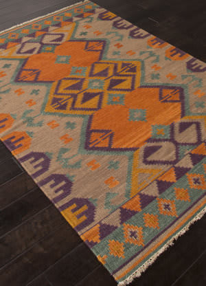 Addison And Banks Flat Weave Abr0757 Warm Tan Area Rug