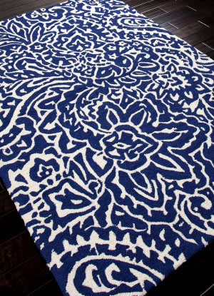 Addison And Banks Hand Hooked Abr0020 Blue Area Rug