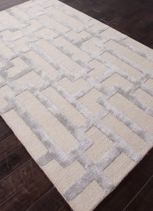 Addison And Banks Hand Tufted Abr0267 Silver Gray/Medium Gray Area Rug