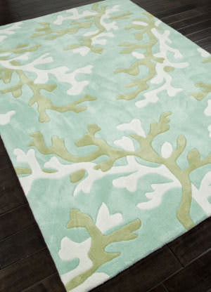 Addison And Banks Hand Tufted Abr0359 Turquoise Blue/White Area Rug