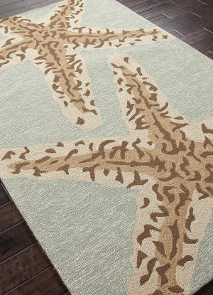 Addison And Banks Hand Hooked Abr0383 Silver Lake Blue Area Rug