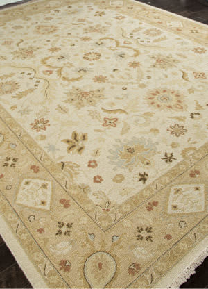 Addison And Banks Hand Knotted Abr1136 Dark Ivory Area Rug