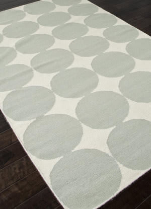 Addison And Banks Flat Weave Abr0458 White / Pastel Blue Area Rug