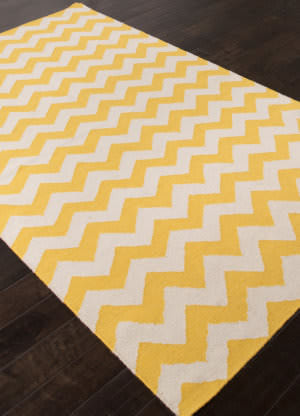 Addison And Banks Flat Weave Abr1223 Yellow Area Rug