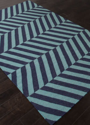 Addison And Banks Flat Weave Abr1239 Deep Navy Area Rug