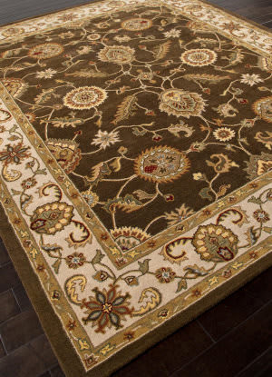 Addison And Banks Hand Tufted Abr0520 Cocoa Brown/Dark Ivory Area Rug