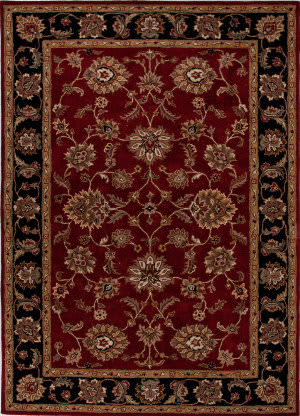 Addison And Banks Hand Tufted Abr0527 Red/Ebony Area Rug