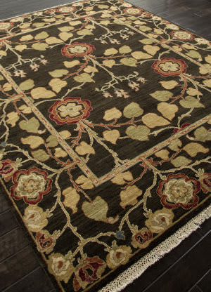 Addison And Banks Hand Knotted Abr1331 Deep Charcoal Area Rug
