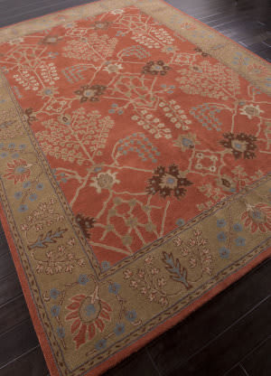 Addison And Banks Hand Tufted Abr0575 Orange Rust/Gold Brown Area Rug