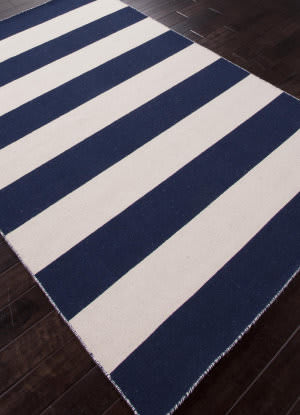 Addison And Banks Flat Weave Abr0634 Medieval Blue - White Ice Area Rug