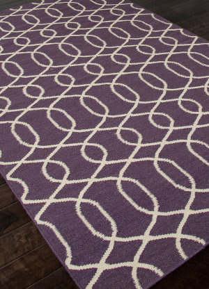 Addison And Banks Flat Weave Abr0475 Continental Plum - Antique White Area Rug
