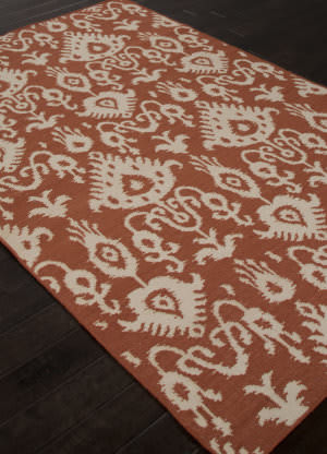 Addison And Banks Flat Weave Abr1476 Orange Rust Area Rug