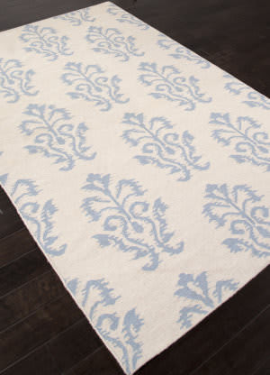 Addison And Banks Flat Weave Abr1478 Powder Blue Area Rug