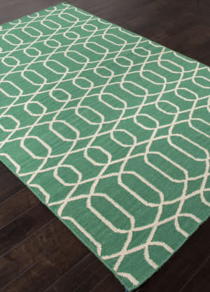 Addison And Banks Flat Weave Abr1480 Emerald Green Area Rug
