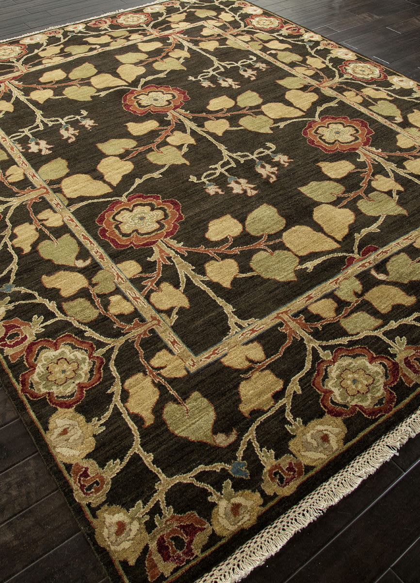 Addison And Banks Hand Knotted Abr1331 Deep Charcoal