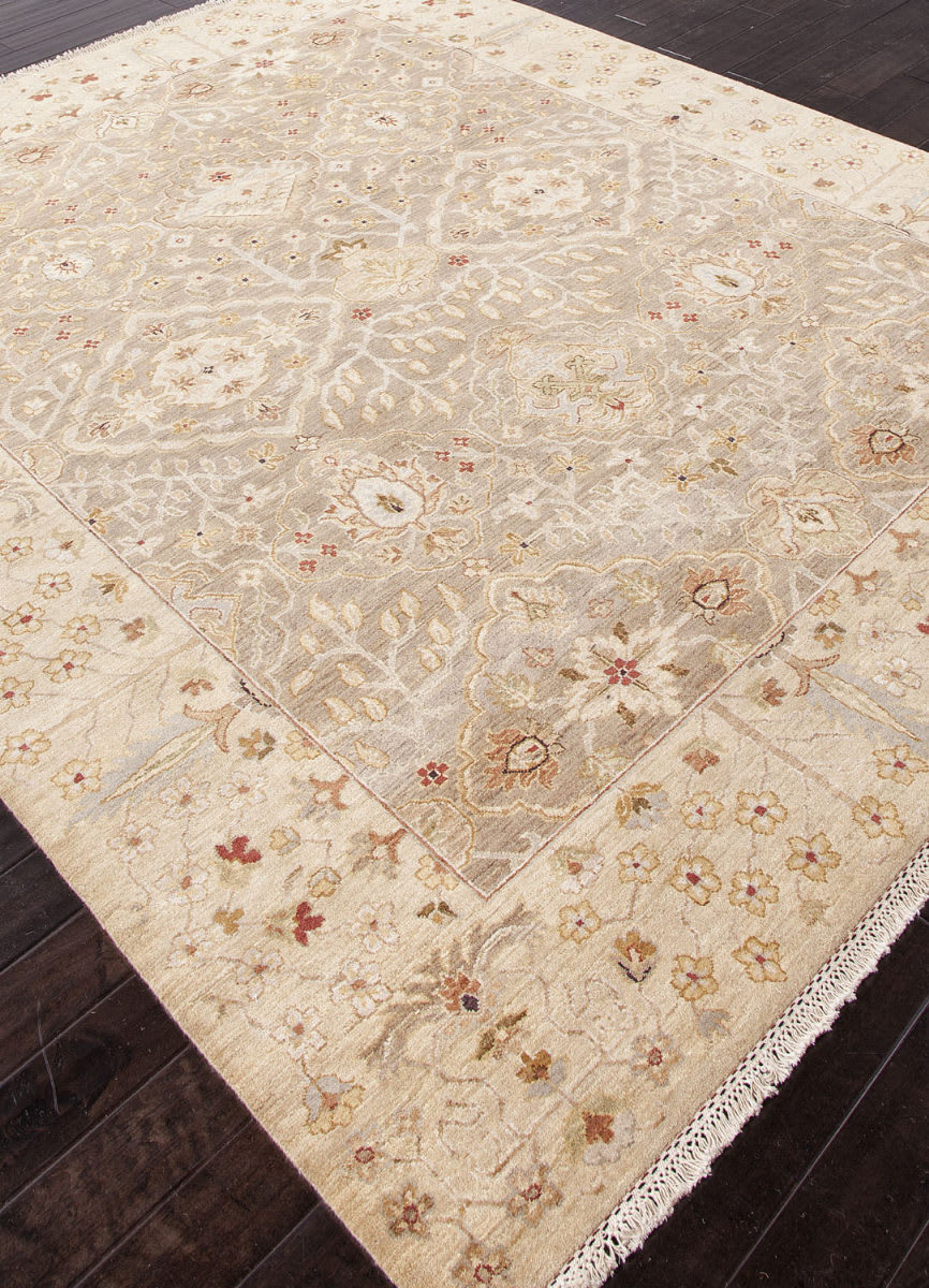 Addison And Banks Hand Knotted Abr1333 Oatmeal Clearance