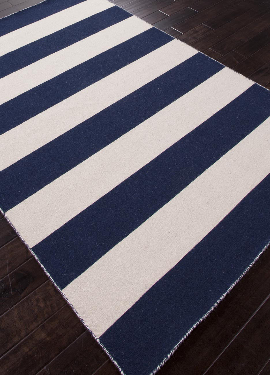 Addison And Banks Flat Weave Abr0634 Medieval Blue White