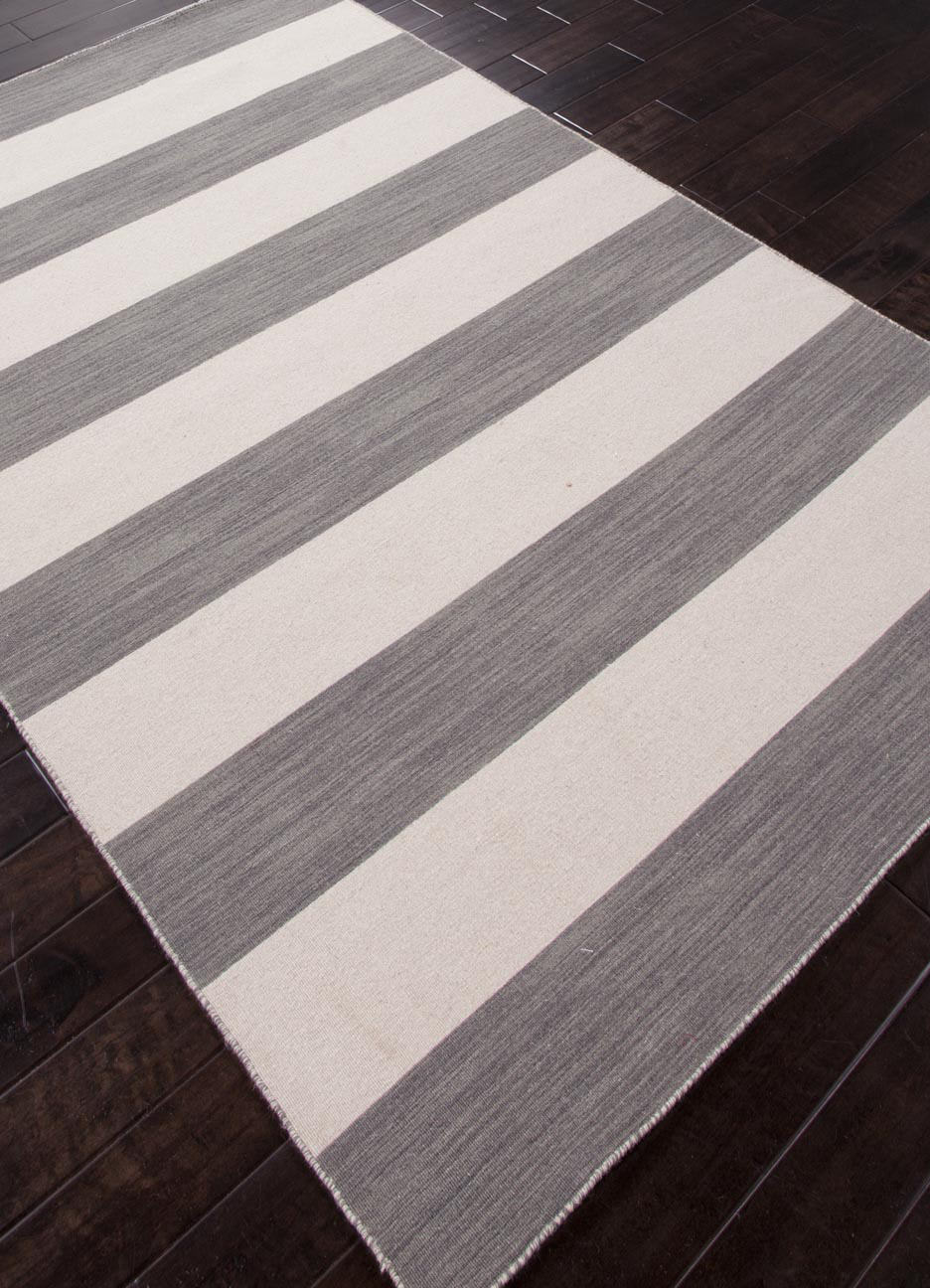 Addison And Banks Flat Weave Abr0635 Stone Gray White