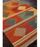 Addison And Banks Flat Weave Abr0016 Red Oxide Area Rug